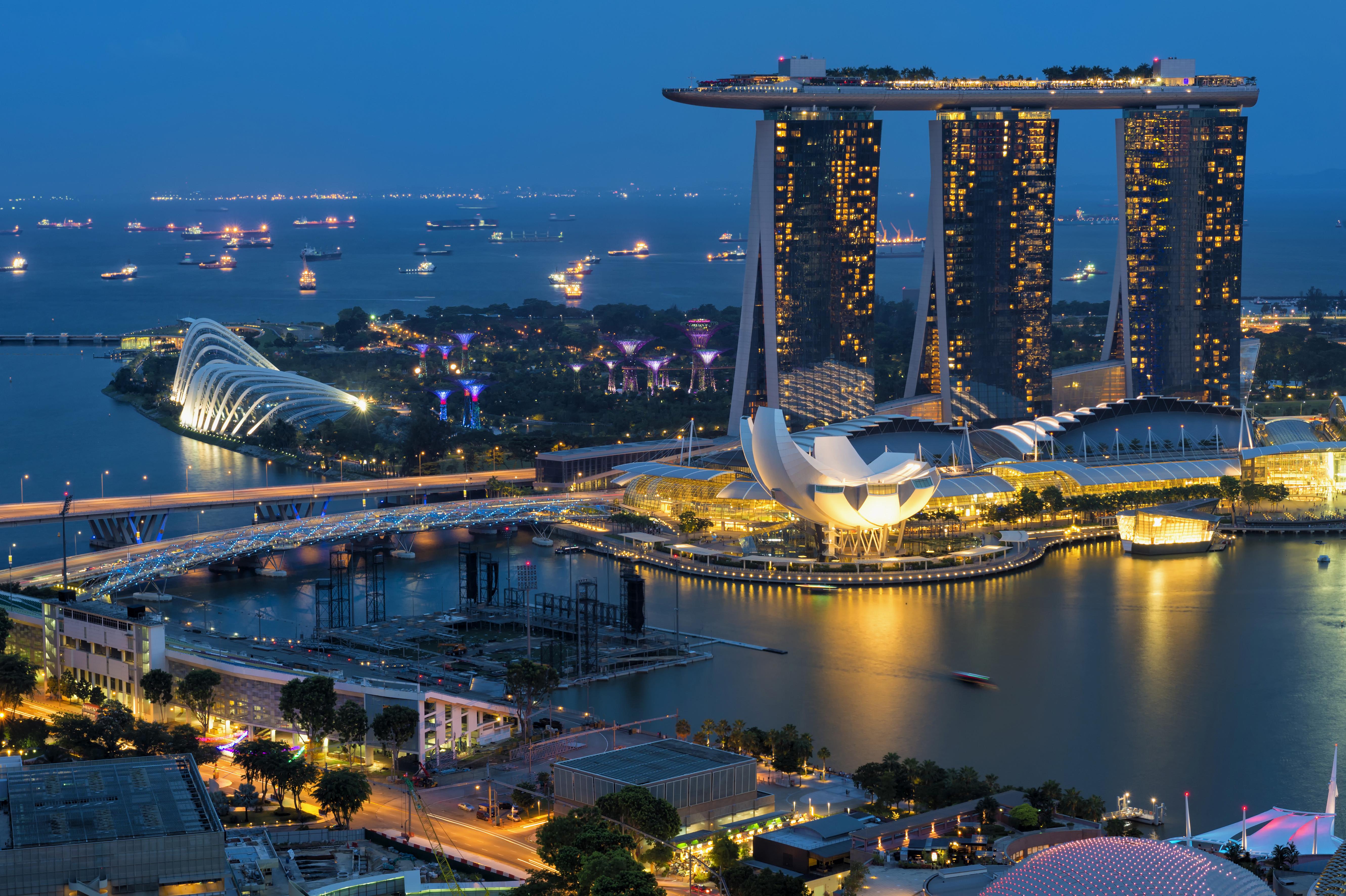 Marina Bay, at night, Singapore