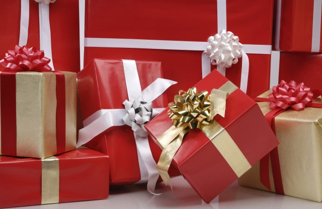 Pile of Christmas gift boxesVARIOUS