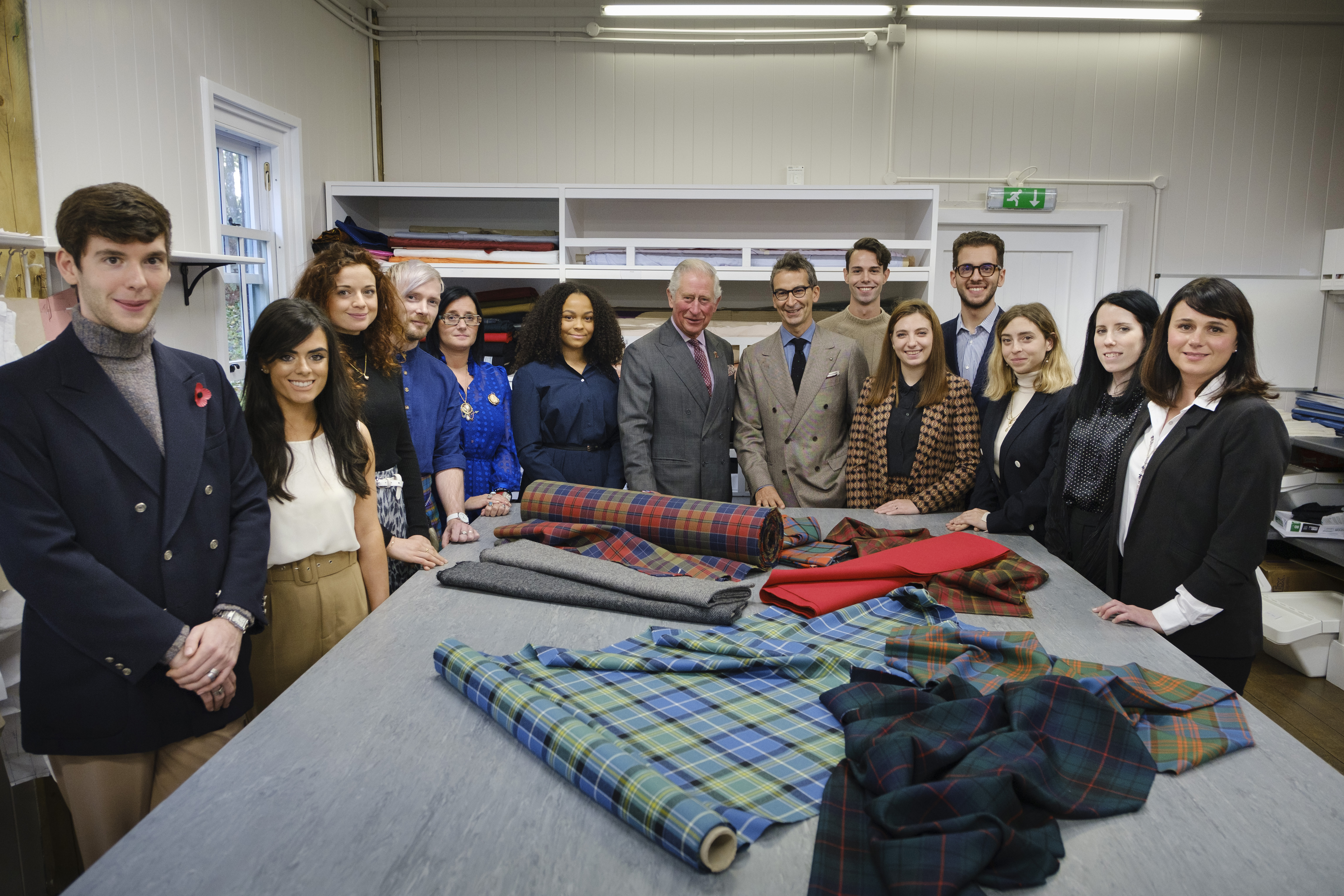 The Modern Artisan students, the Prince of Wales and Federico Marchetti