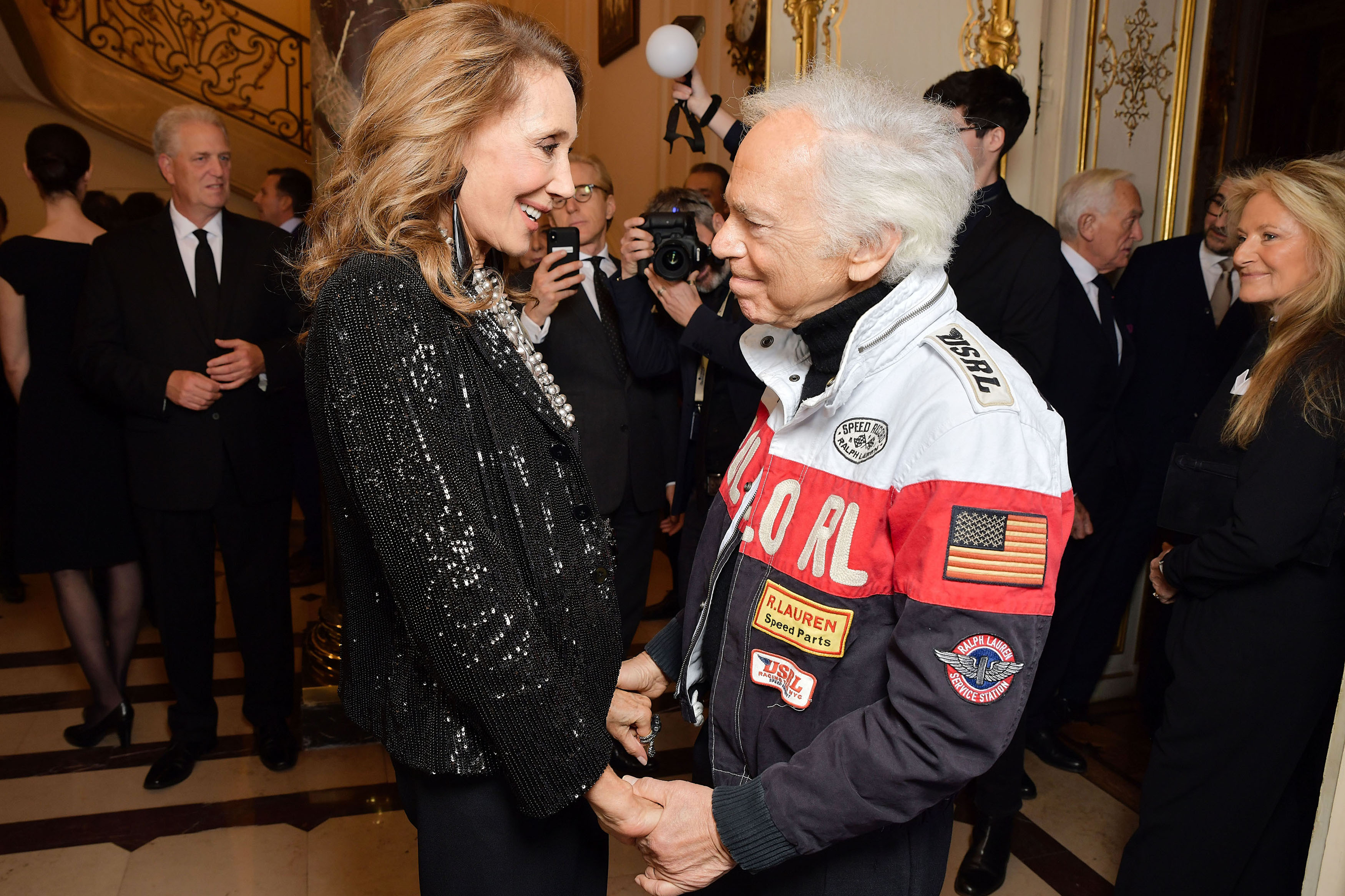 Marisa Berenson and Ralph Lauren