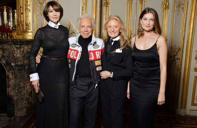 Monica Bellucci, Ralph Lauren, Ricky Lauren and Laetitia Casta