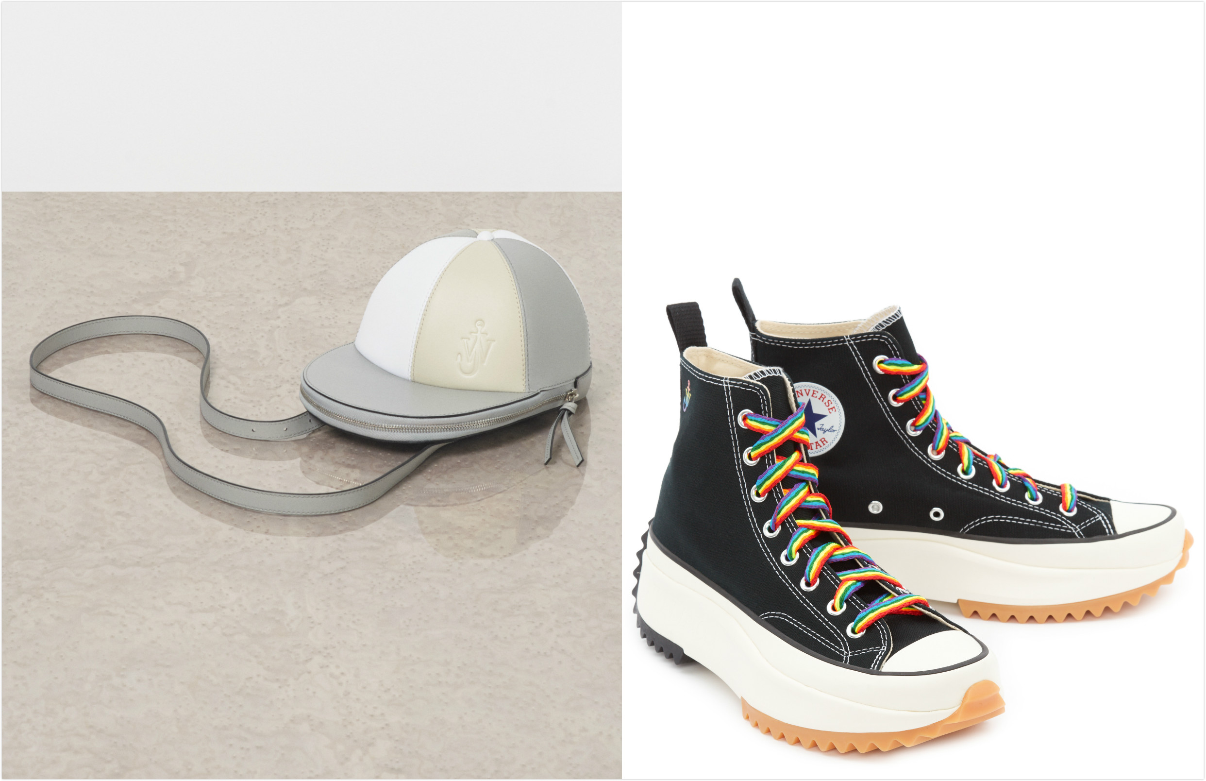 Exclusive JW Anderson cap bag and Converse collaboration sneakers for SKP Beijing