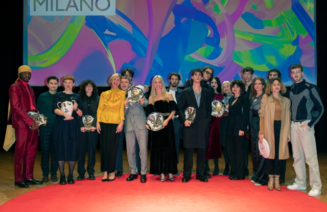 The winners of the 2019 edition of the Fashion Film Festival Milano with founder Constanza Cavalli Etro and Elizabeth von Guttman.