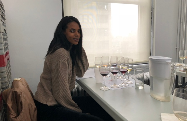 Grace Mahary in her sommelier class.