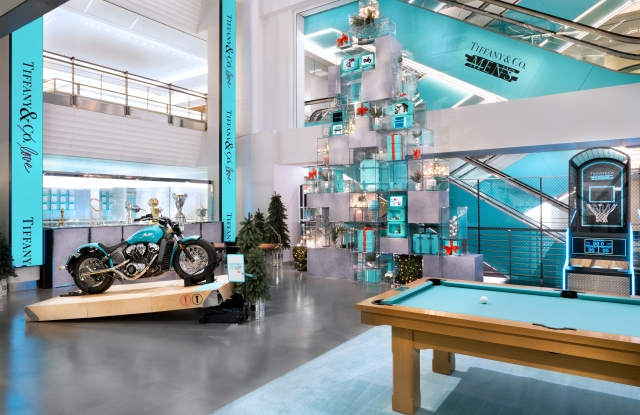 Tiffany's men's pop-up store located in what will become its temporary flagship store.