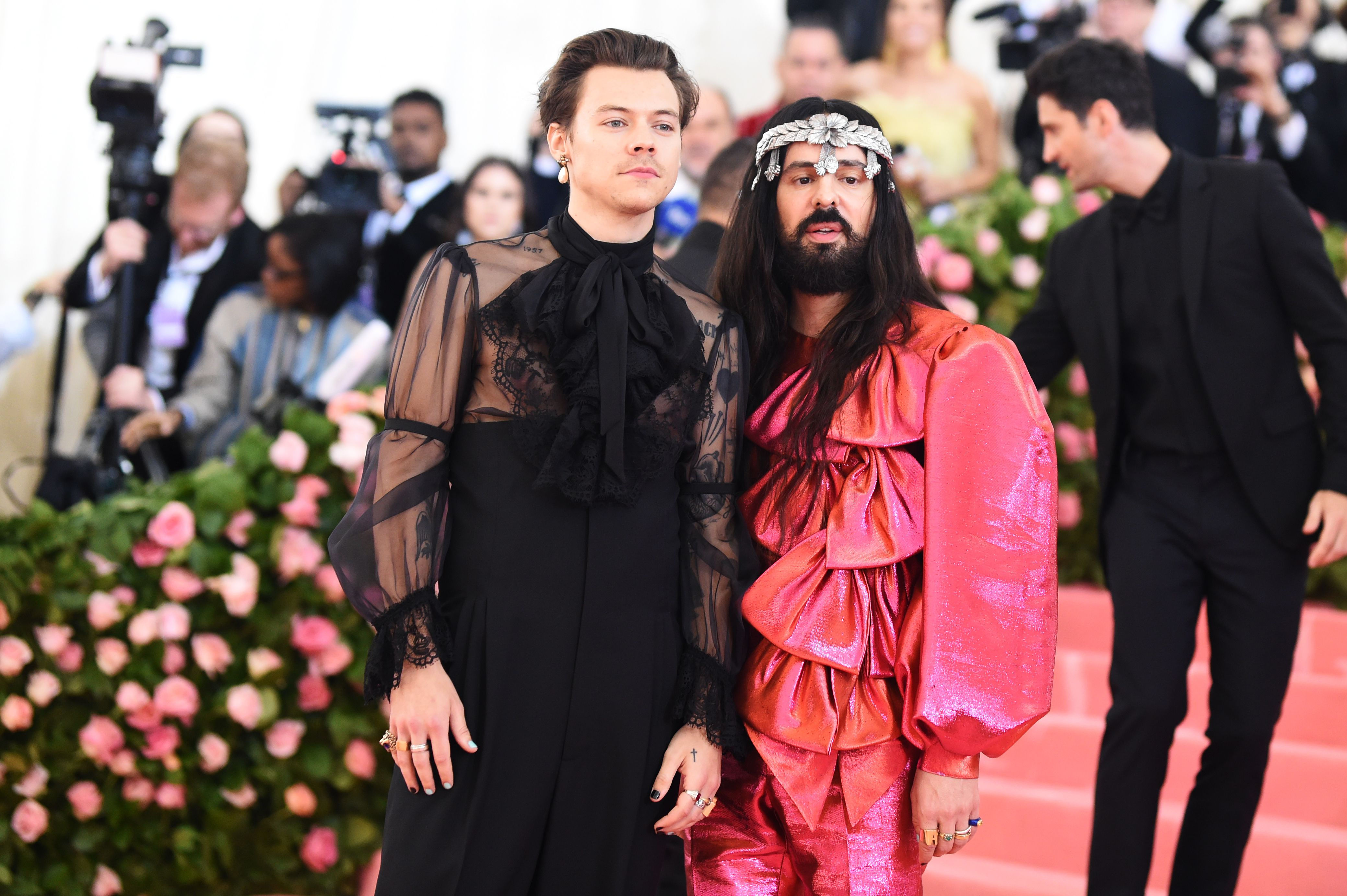 Harry Styles and Alessandro MicheleCostume Institute Benefit celebrating the opening of Camp: Notes on Fashion, Arrivals, The Metropolitan Museum of Art, New York, USA - 06 May 2019
