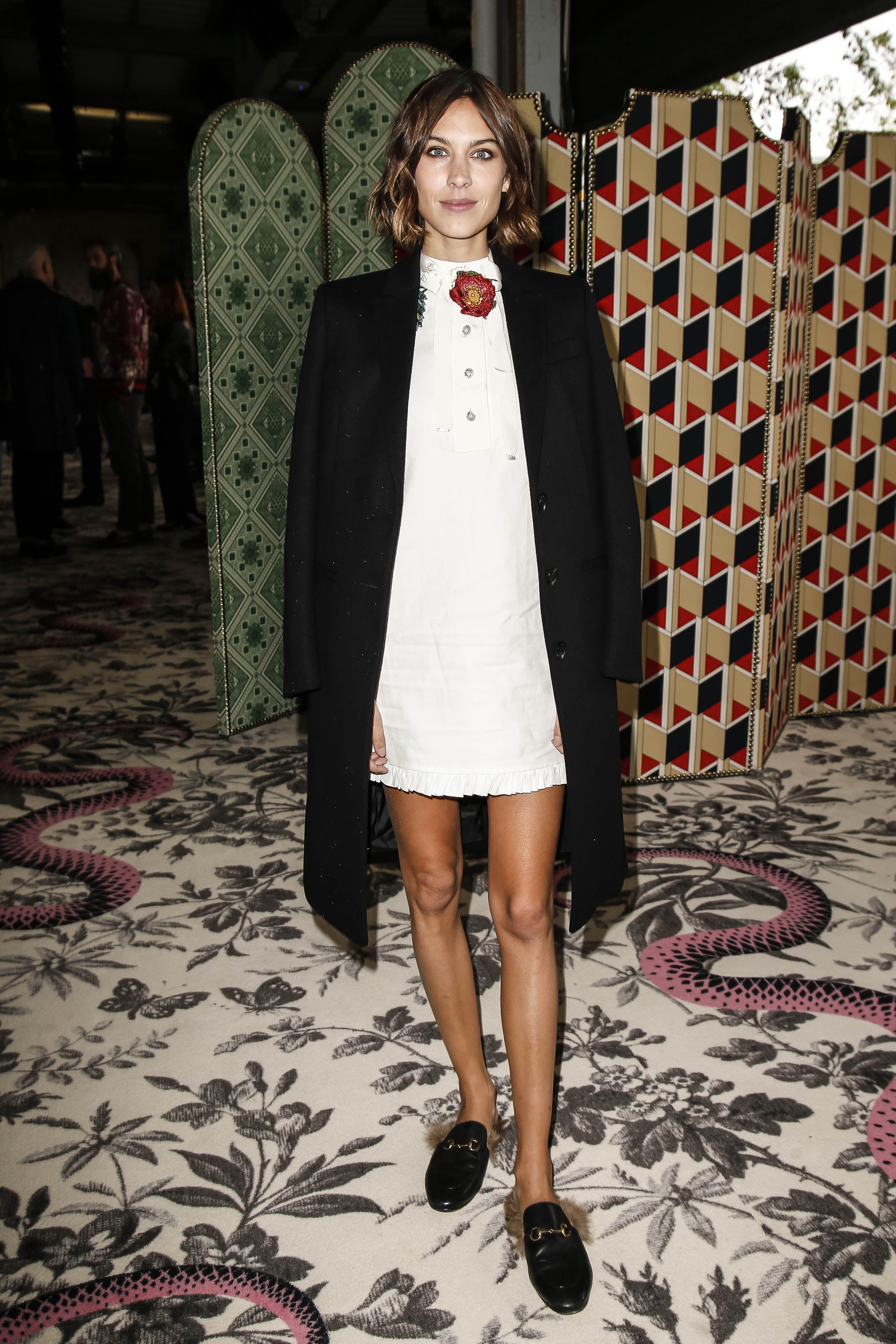 Alexa ChungGucci show, Spring Summer 2016, Milan Fashion Week, Italy - 23 Sep 2015WEARING GUCCI