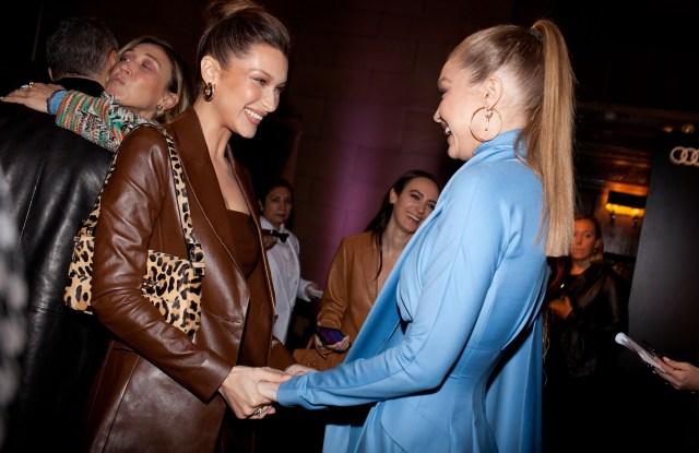 Bella Hadid and Gigi Hadid at the Variety's Power of Women celebration.