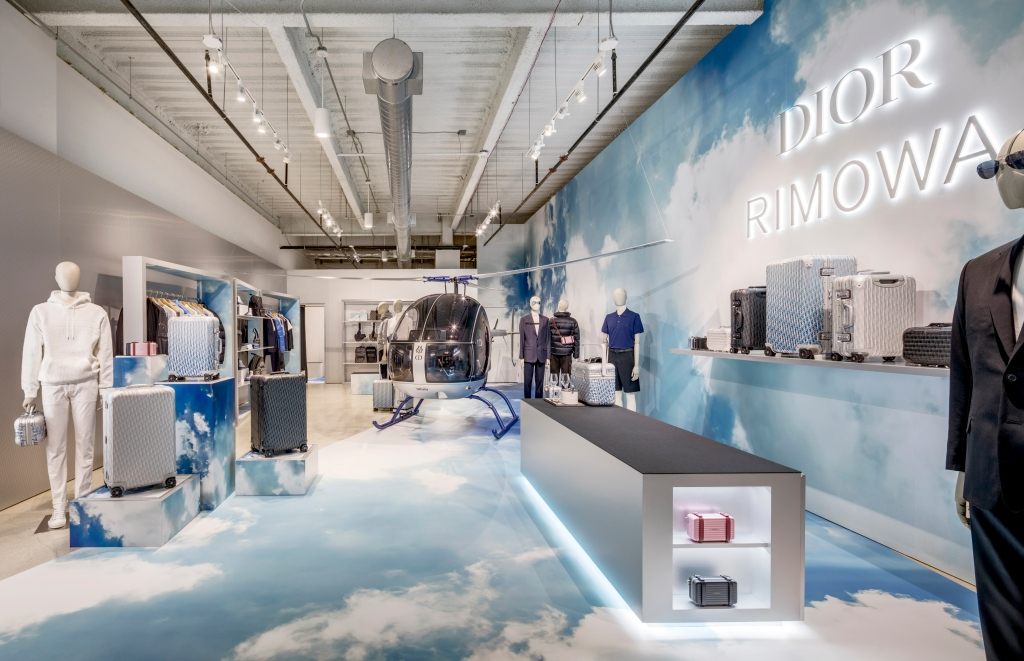 Dior x Rimowa in Miami's Design District