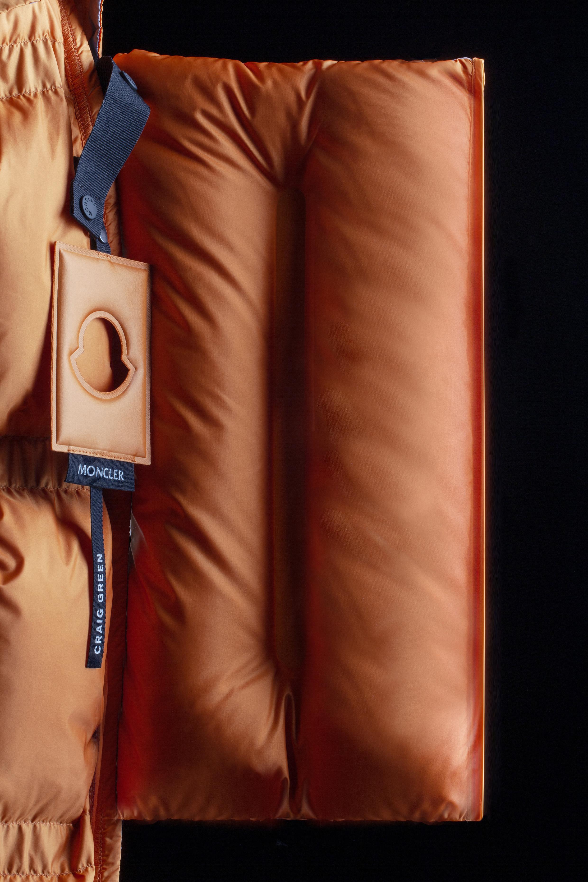 Details of Craig Green's modular puffers for Moncler.