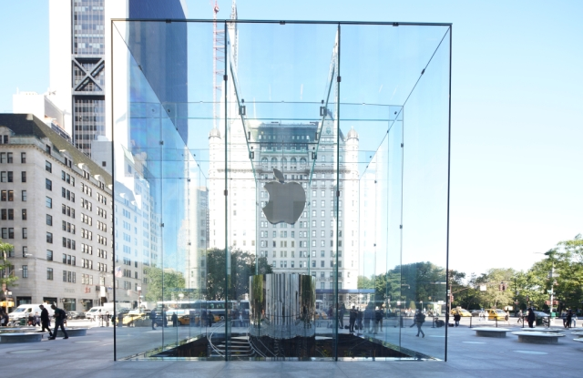 The glass cube of Apple's reimagined Fifth Avenue flagship. The tech giant's investment gave a boost to Fifth Avenue.
