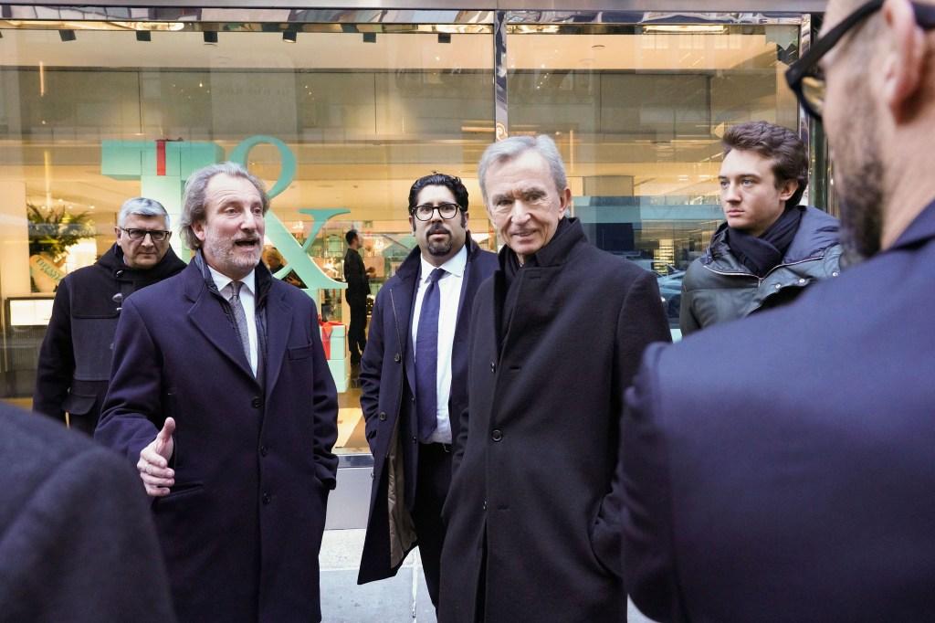 Alessandro Bogliolo, Bernard Arnault, and Frederic Arnault