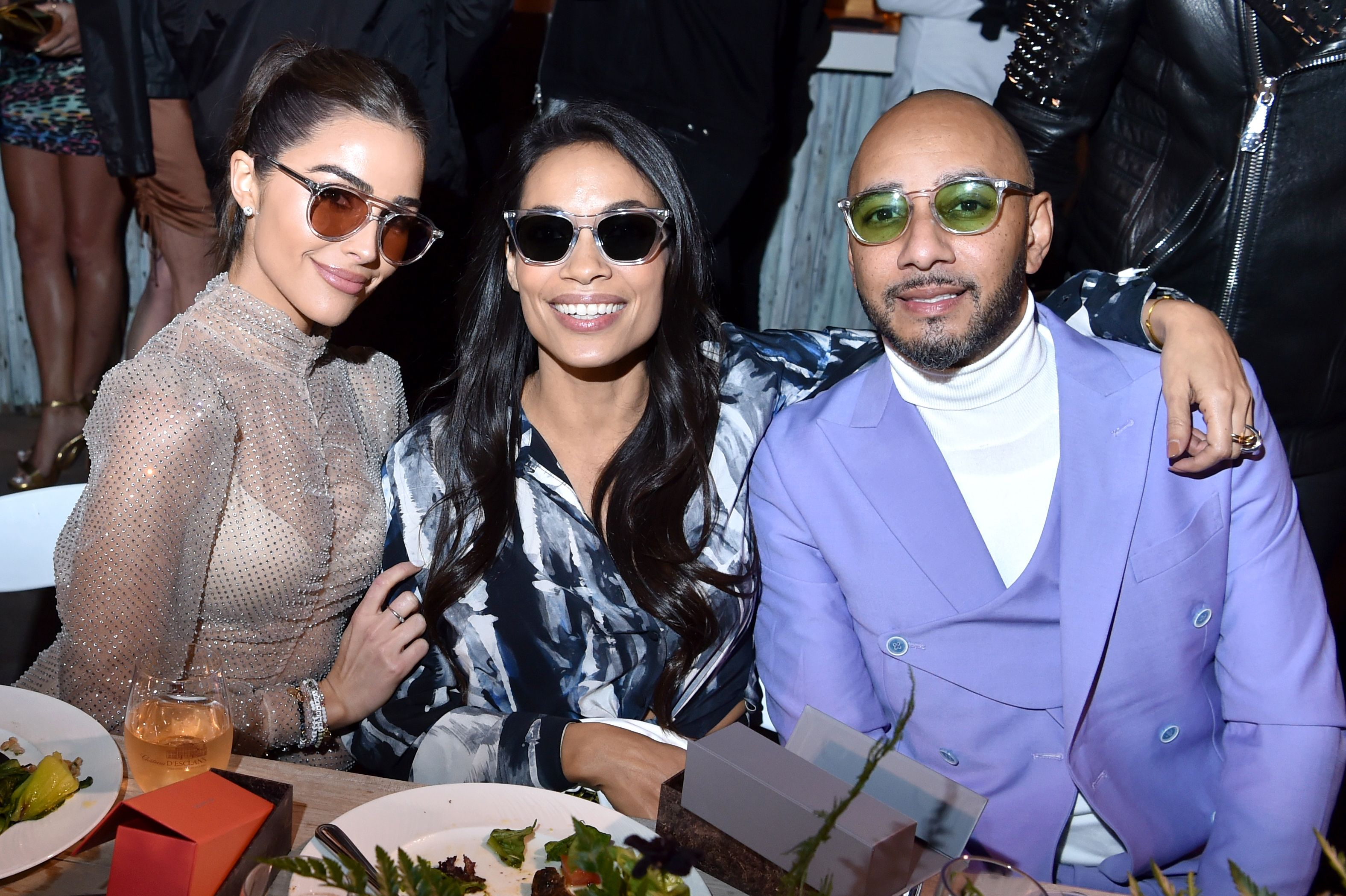 Olivia Culpo, Rosario Dawson and Swizz Beatz.