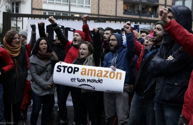Attac France, Amazon, protest, climate, black friday, cyber monday