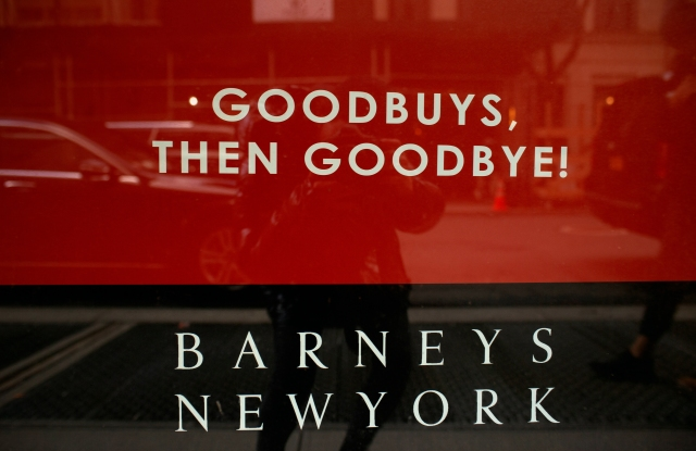 Barneys is currently running liquidation sales.