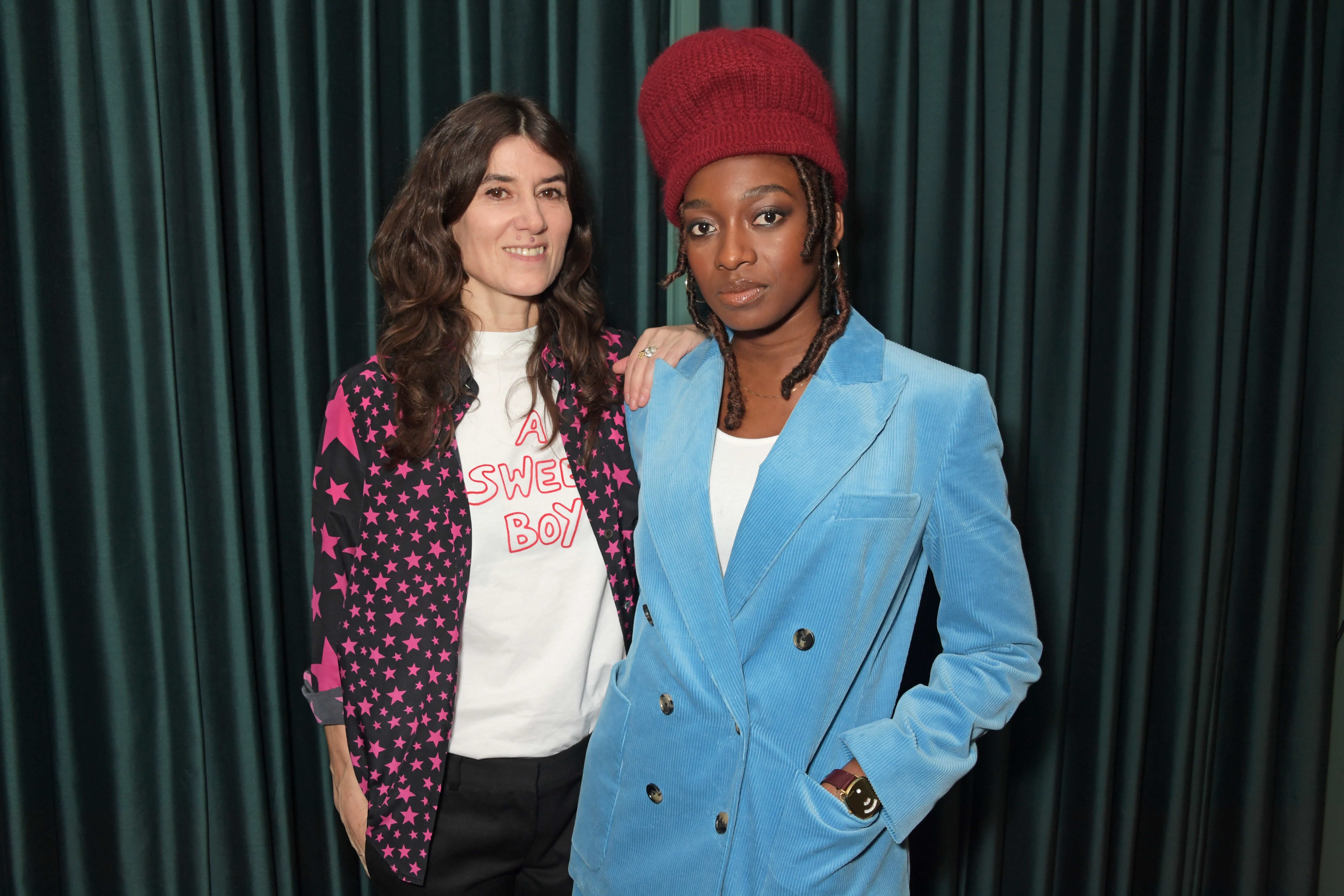 Bella Freud and Little Simz attend the MatchesFashion X Bella Freud Musical Matches event