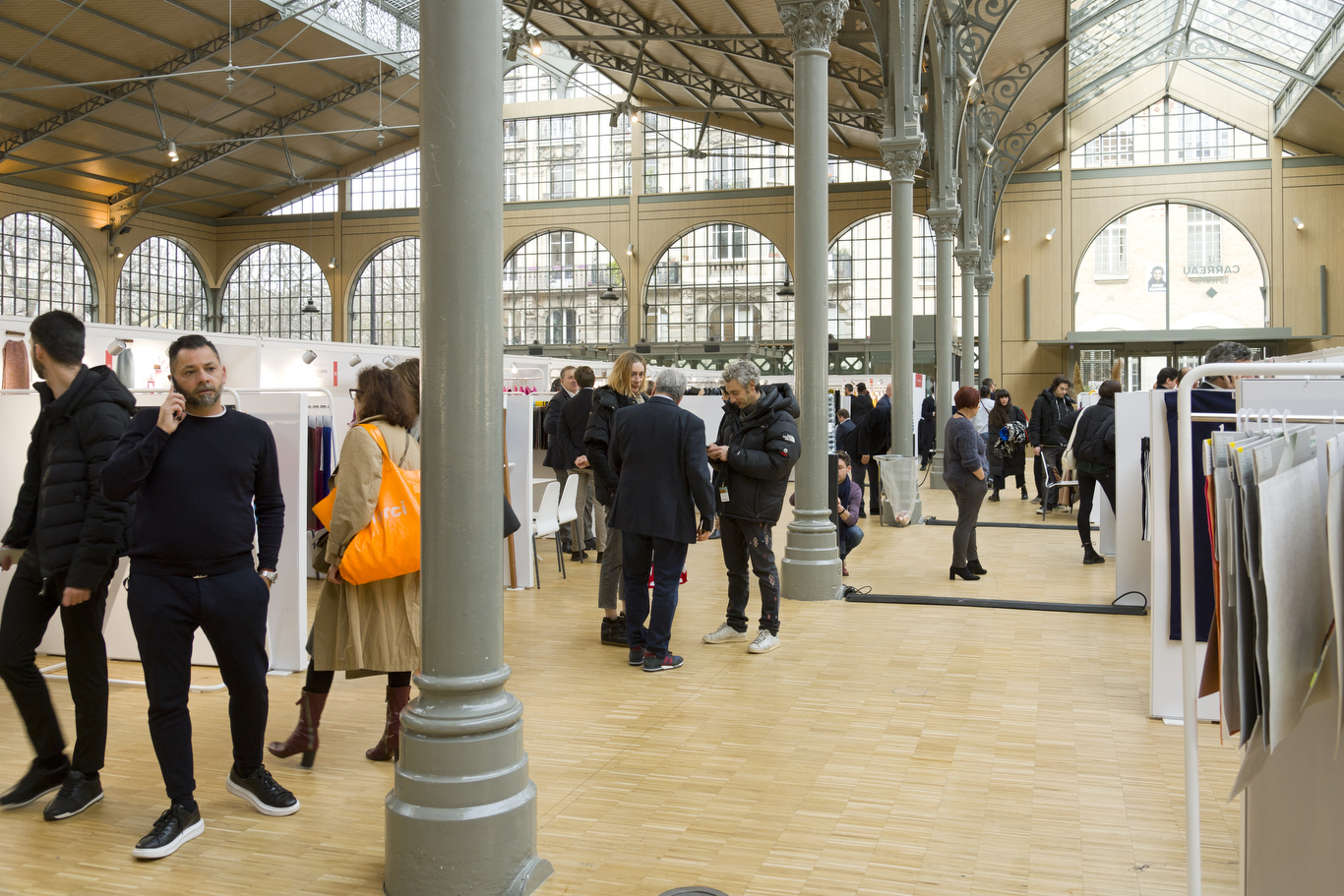 Blossom Premiere Vision is held at the Carreau du Temple in Paris