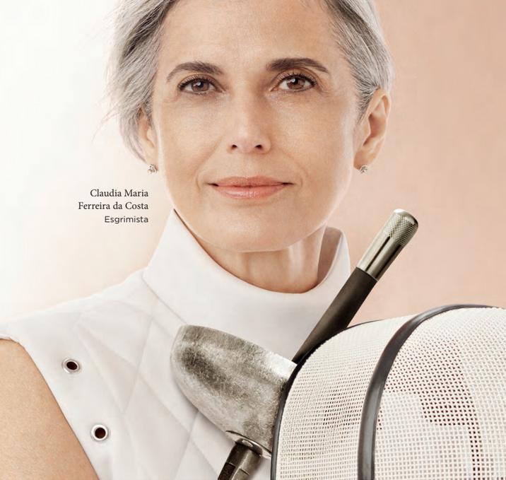 The Clarins campaign featuring 57-year-old champion fencer Claudia Maria Ferreira da Costa