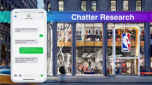 Chatter is making headway with retailers.