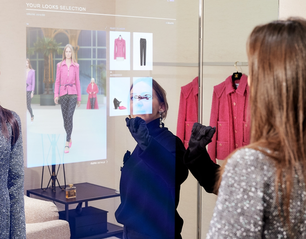 The connected mirror developed by Chanel and Farfetch.