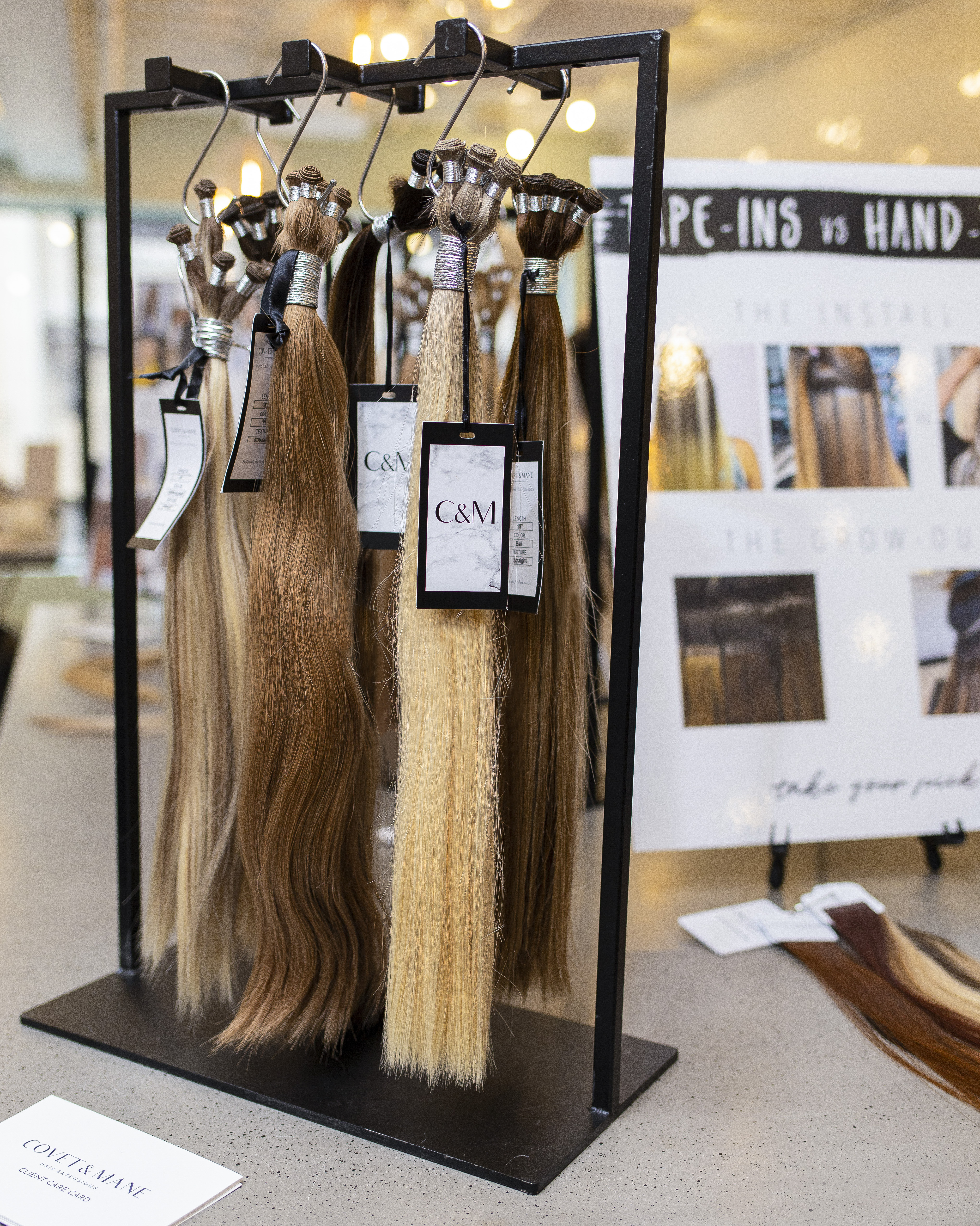 Covet and Mane hair extensions