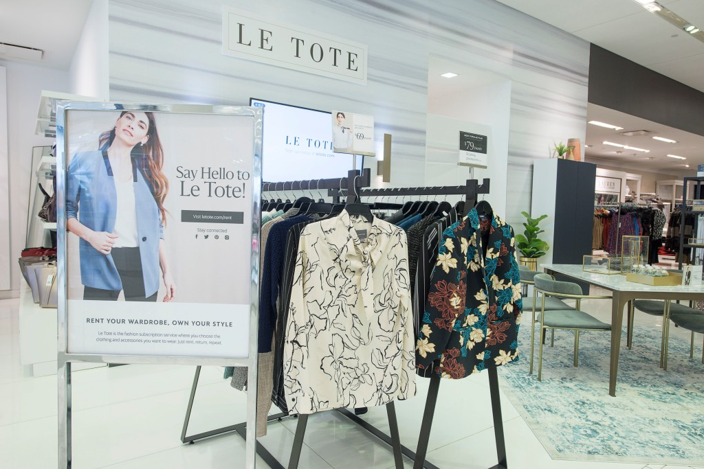YONKERS, NEW YORK - OCTOBER 14: Le Tote Rental Studio @ Lord + Taylor Ridge Hill on October 14, 2019 in Yonkers, New York. (Photo by Eugene Gologursky/Getty Images)