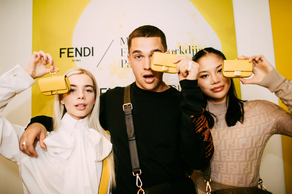 Guests at the FendiFrenesia party.
