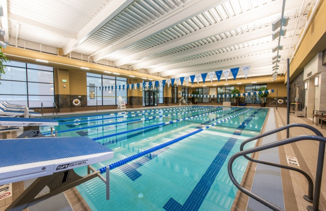 A pool at the Life Time resort-style fitness club at Southdale Center in Edina, Minn.