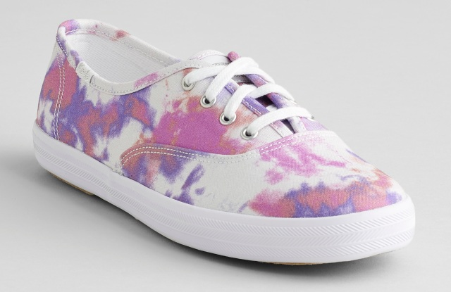 Tie-dye sneakers from the Keds x Elizabeth and James collaboration at Kohl's.