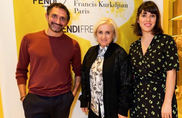 Silvia Fendi, Francis Kurkdjian and artist Christelle Boule