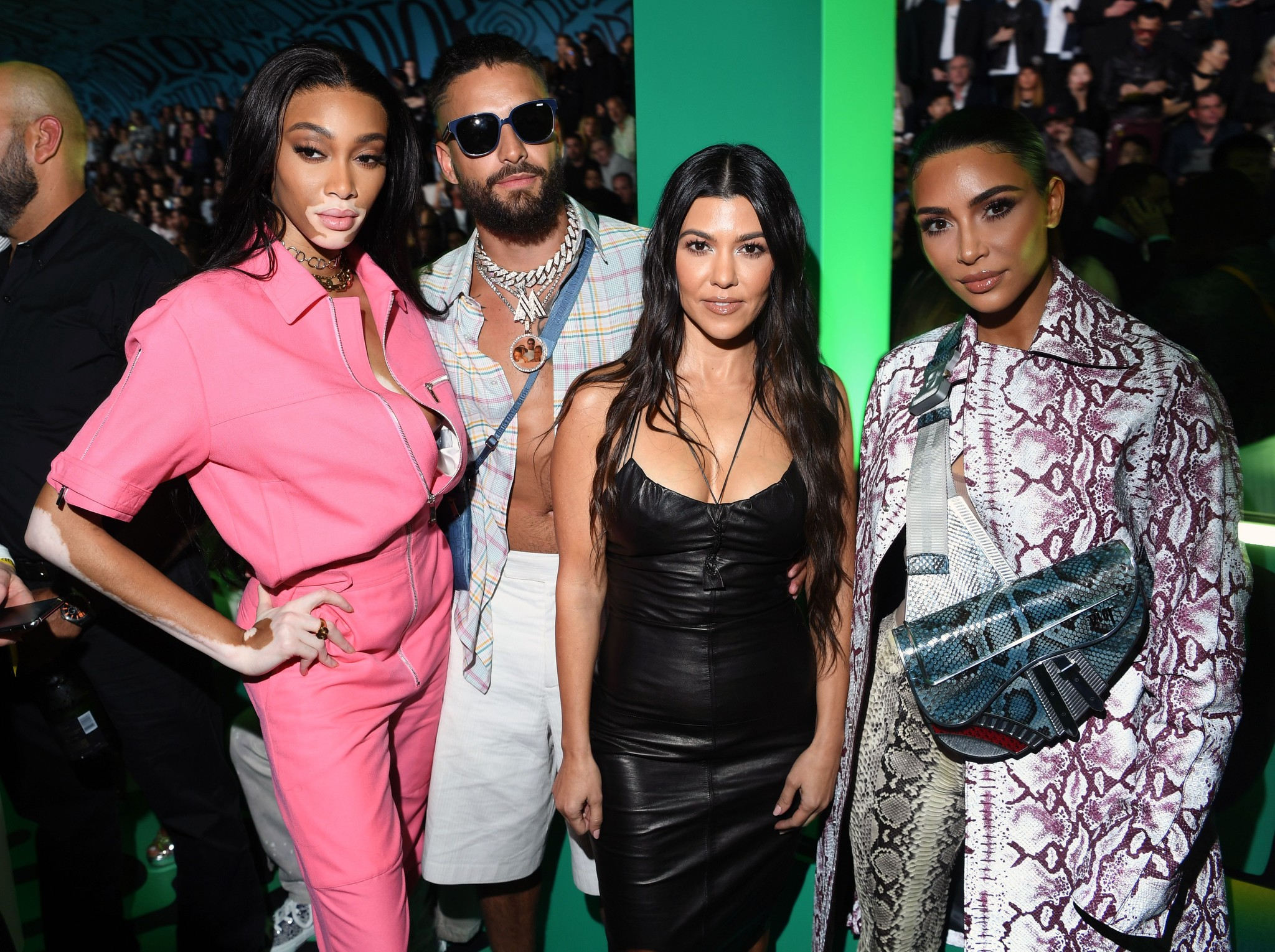 Winnie Harlow, Maluma, Kourtney Kardashian and Kim Kardashian West