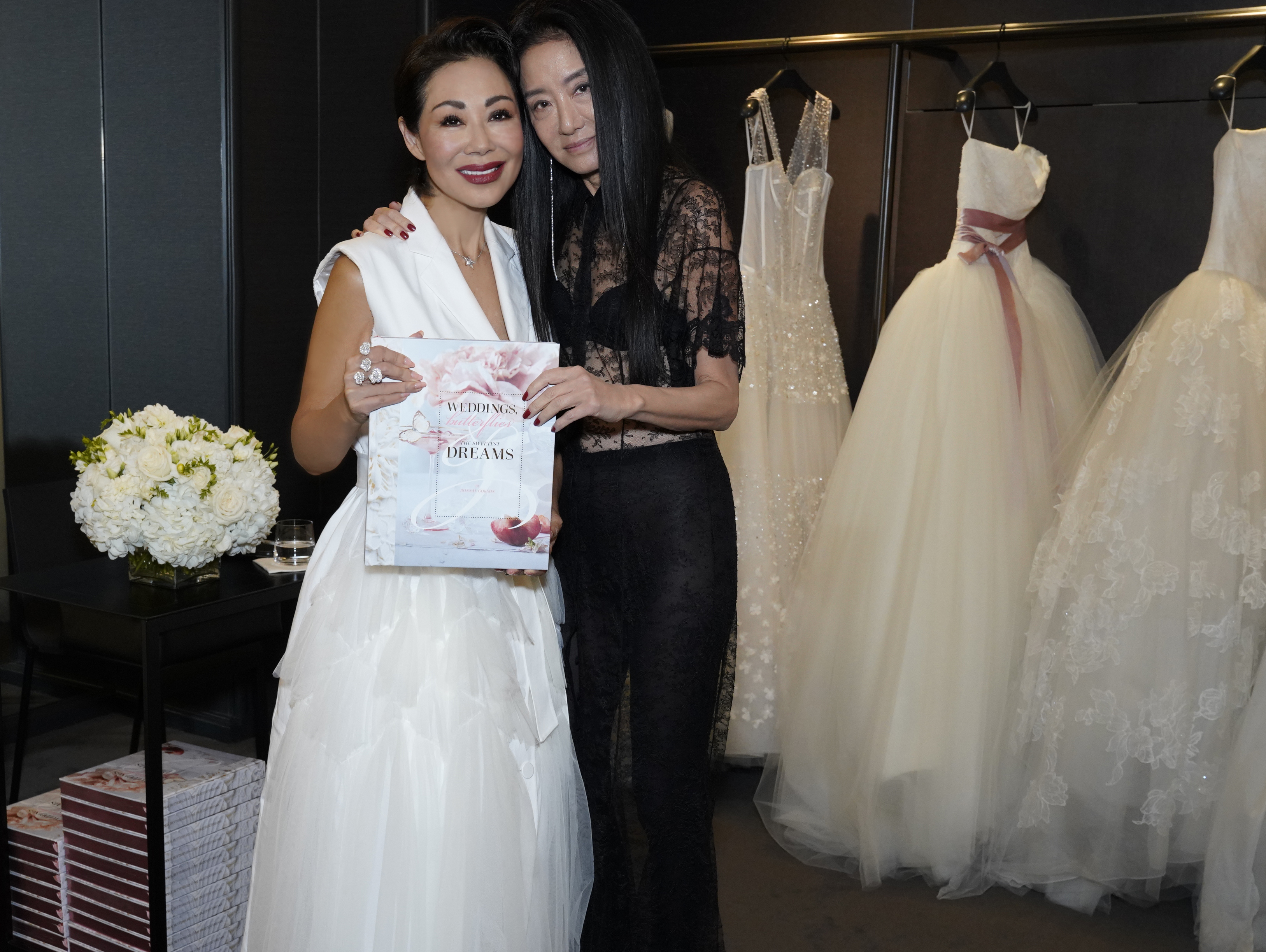Gokson and friend Vera Wang, who wrote the foreword for Gokson's coffee table book.