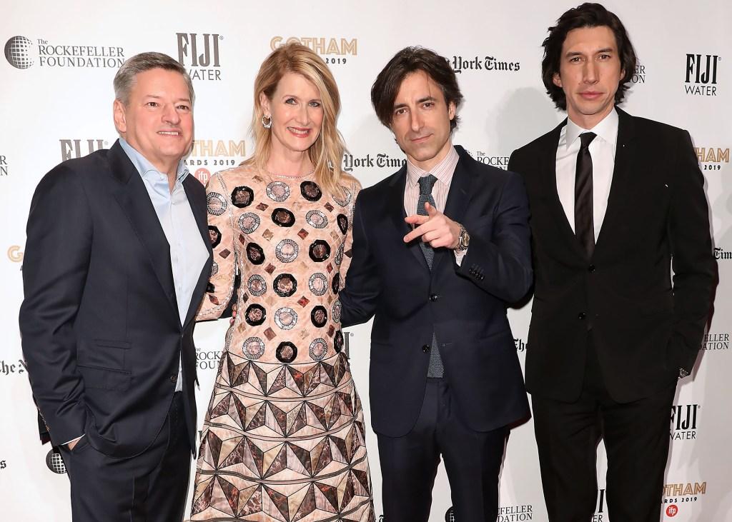 Ted Sarandos, Laura Dern, Noah Baumbach and Adam Driver