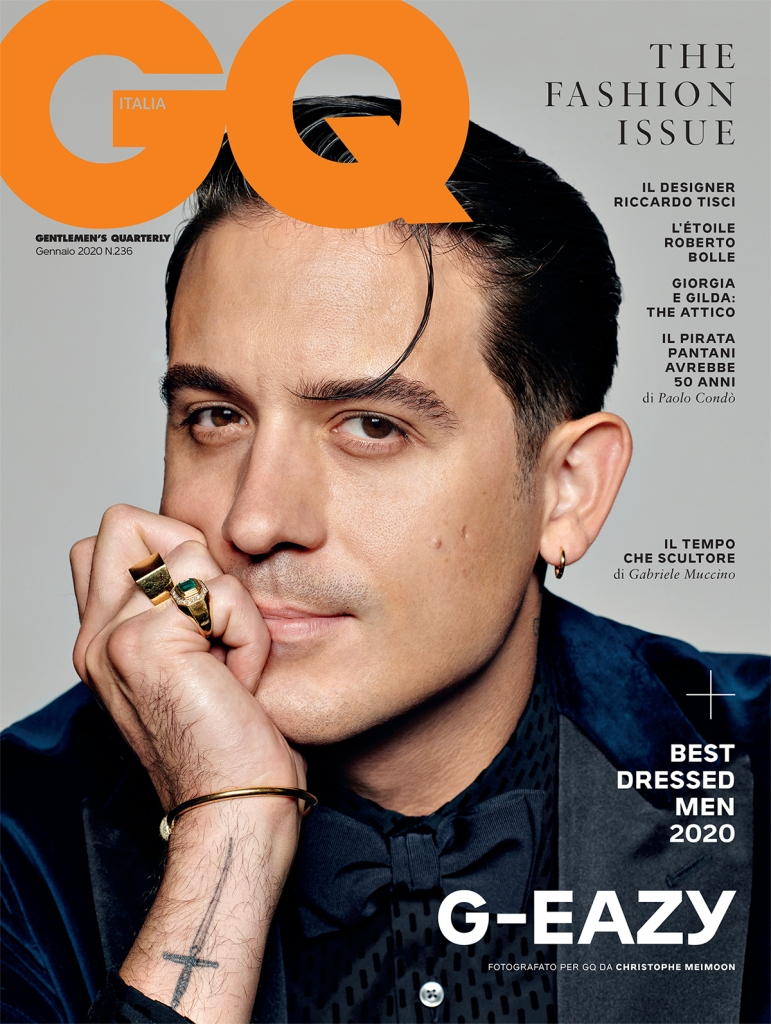 American rapper G-Eazy dons the cover of GQ Italy's January issue