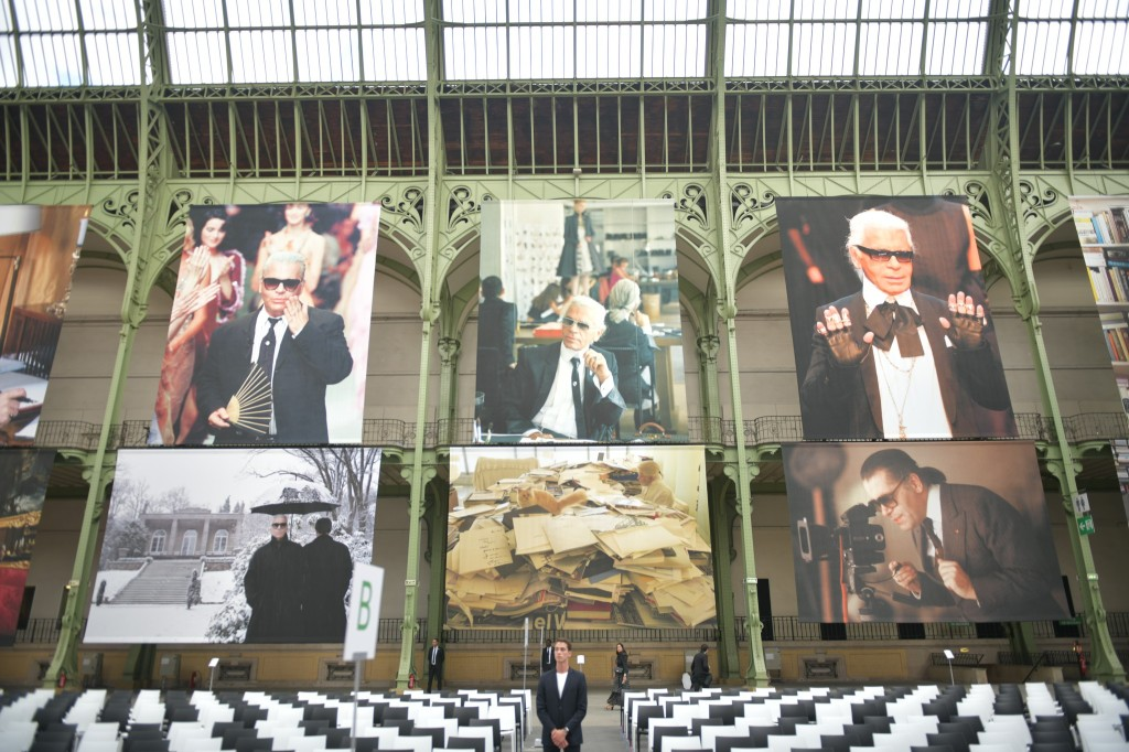The Karl Lagerfeld memorial in February 2019, at the Grand Palais in Paris.