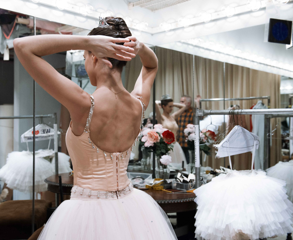 "New York City Ballet's ""The Nutcracker"" includes two Sugarplum Fairy costumes, including this pink look from Act One."