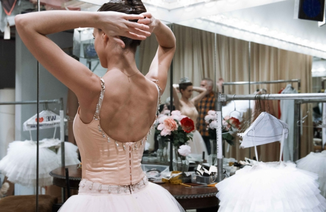 """New York City Ballet's """"The Nutcracker"""" includes two Sugarplum Fairy costumes, including this pink look from Act One."""