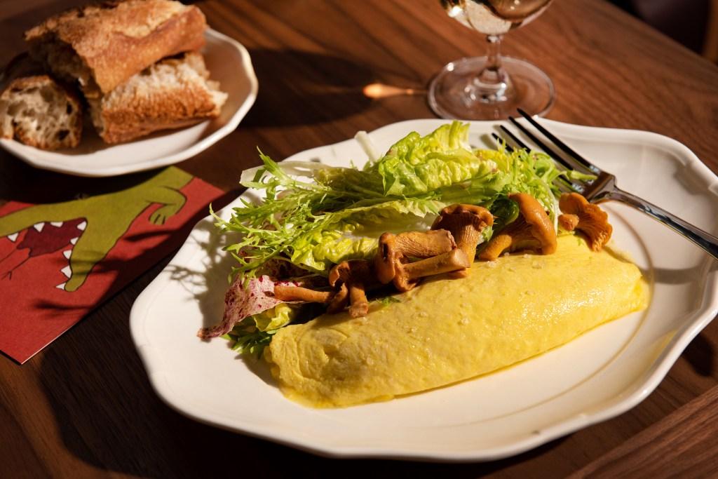 Le Crocodile Wythe Hotel omelette