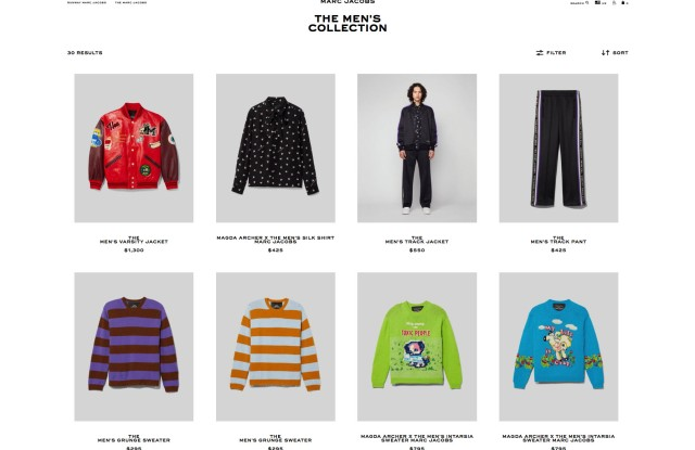 The Men's Collection on the Marc Jacobs' website.