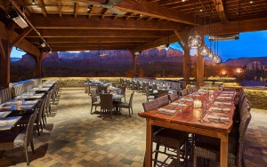 Mariposa has an enviable view of the Sedona red rocks.