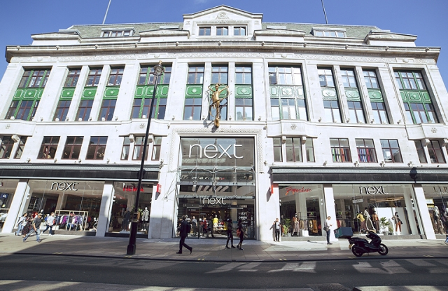 The Next flagship on Oxford Street in London.