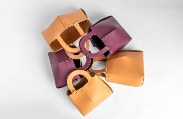 The Nendo-designed handbags for the Up To You Anthology e-commerce platform.