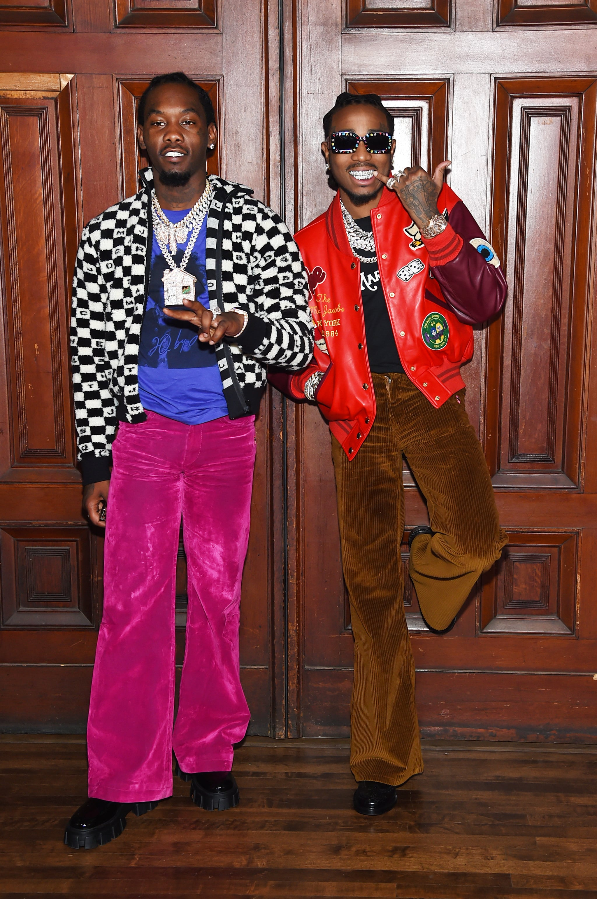Offset and Quavo in Marc Jacobs men's.