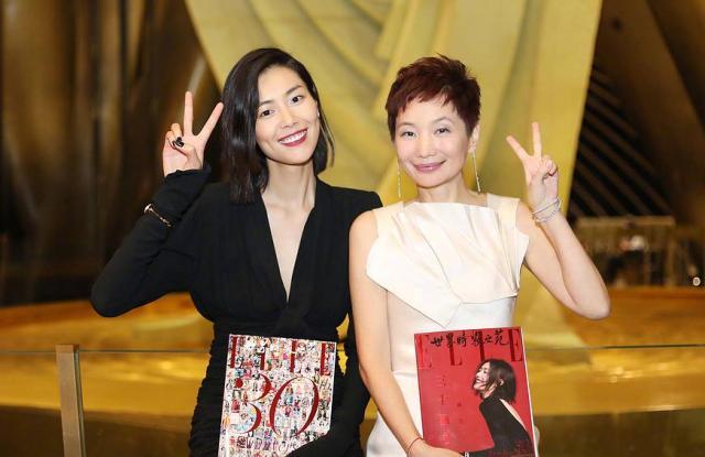 Model Liu Wen, left, and Xiao Xue, right.