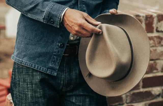 A look from the Taylor Stitch, Stetson capsule.