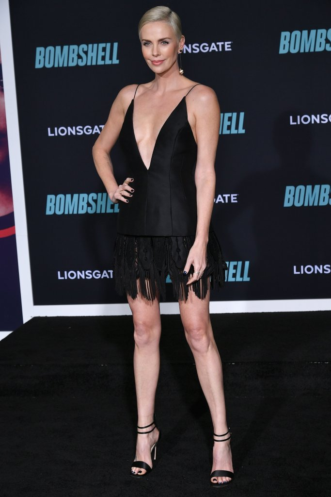 Charlize Theron'Bombshell' film premiere, Arrivals, Regency Village Theatre, Los Angeles, USA - 10 Dec 2019Wearing Dior Same Outfit as catwalk model *10325126ai