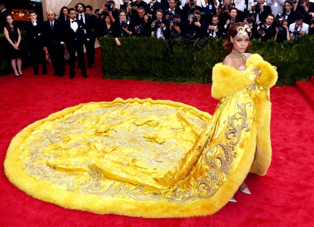 RihannaCostume Institute Gala Benefit celebrating China: Through the Looking Glass, Metropolitan Museum of Art, New York, America - 04 May 2015 WEARING GUO PEI