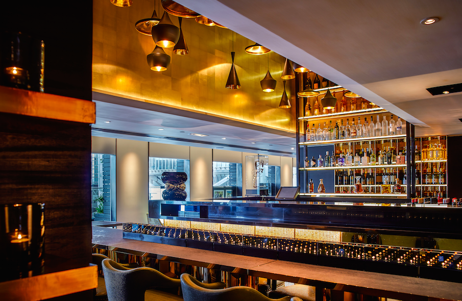 The bar at Sevva.