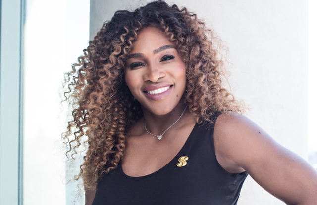 Serena wearing clothes from her line, 'Serena'