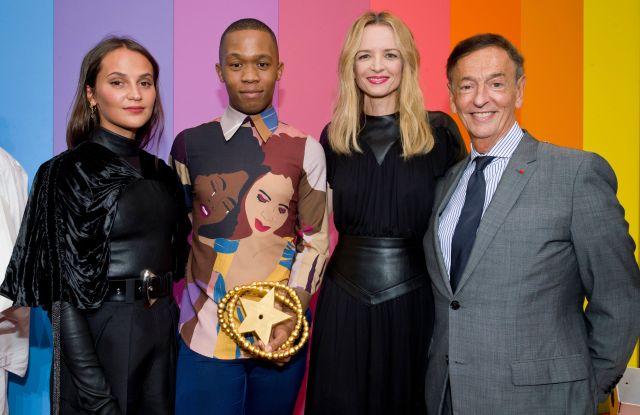 Alicia Vikander, Thebe Magugu, Delphine Arnault and Jean-Paul ClaverieLVMH Young Fashion Designer Prize, Paris, France - 04 Sep 2019